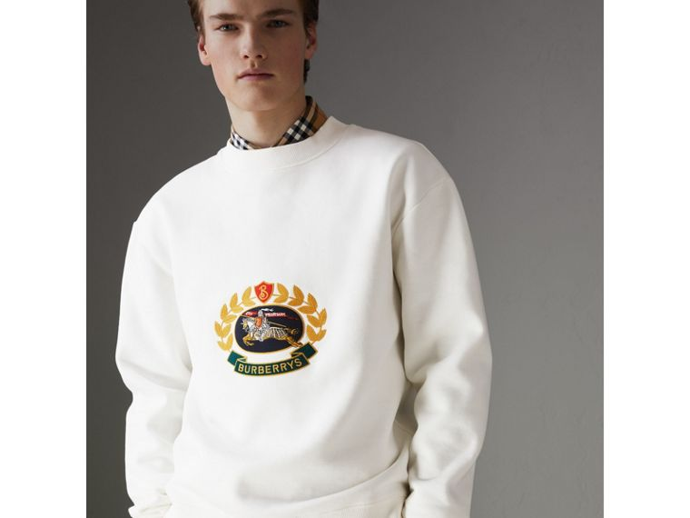 Reissued Jersey Sweatshirt in Off White - Men | Burberry - cell image 4