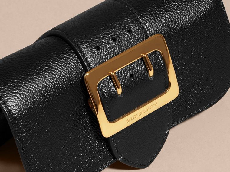 The Mini Buckle Bag in Grainy Leather Black - cell image 1