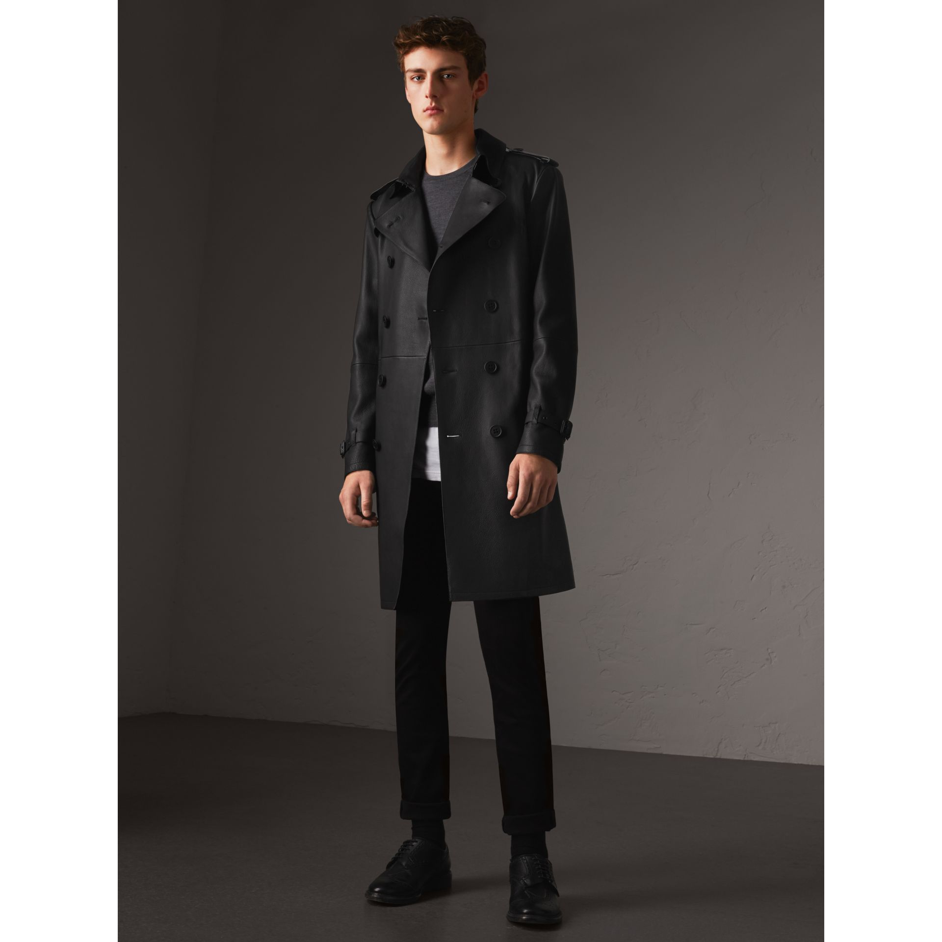 Lambskin Trench Coat - Men | Burberry - gallery image 1