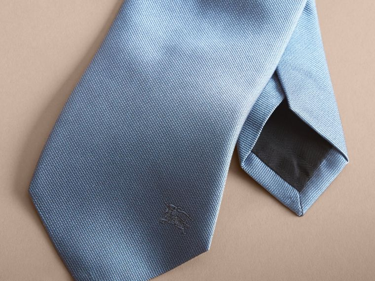 Modern Cut Silk Twill Tie in Sky Blue - cell image 1