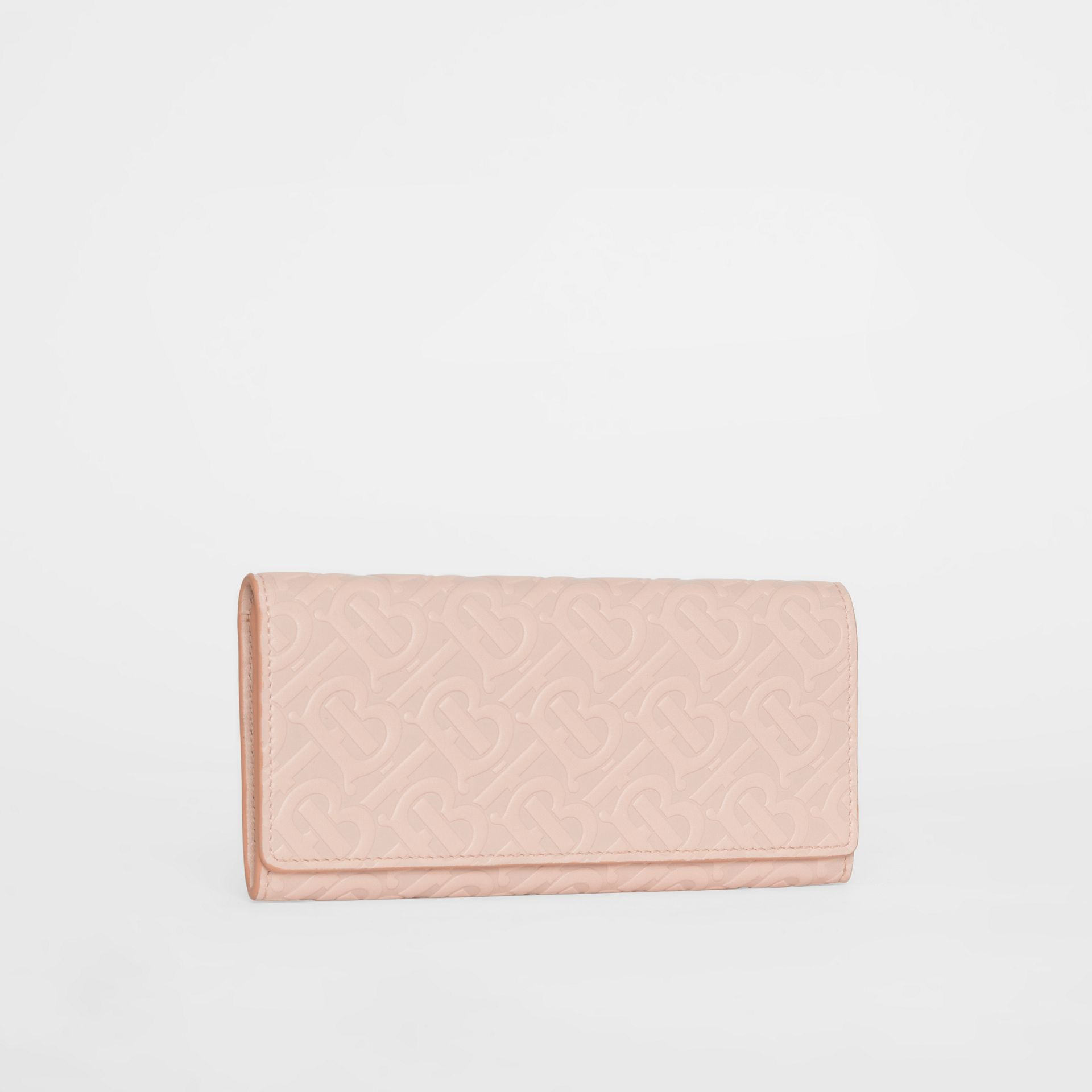 Monogram Leather Continental Wallet in Rose Beige - Women | Burberry Canada - gallery image 4