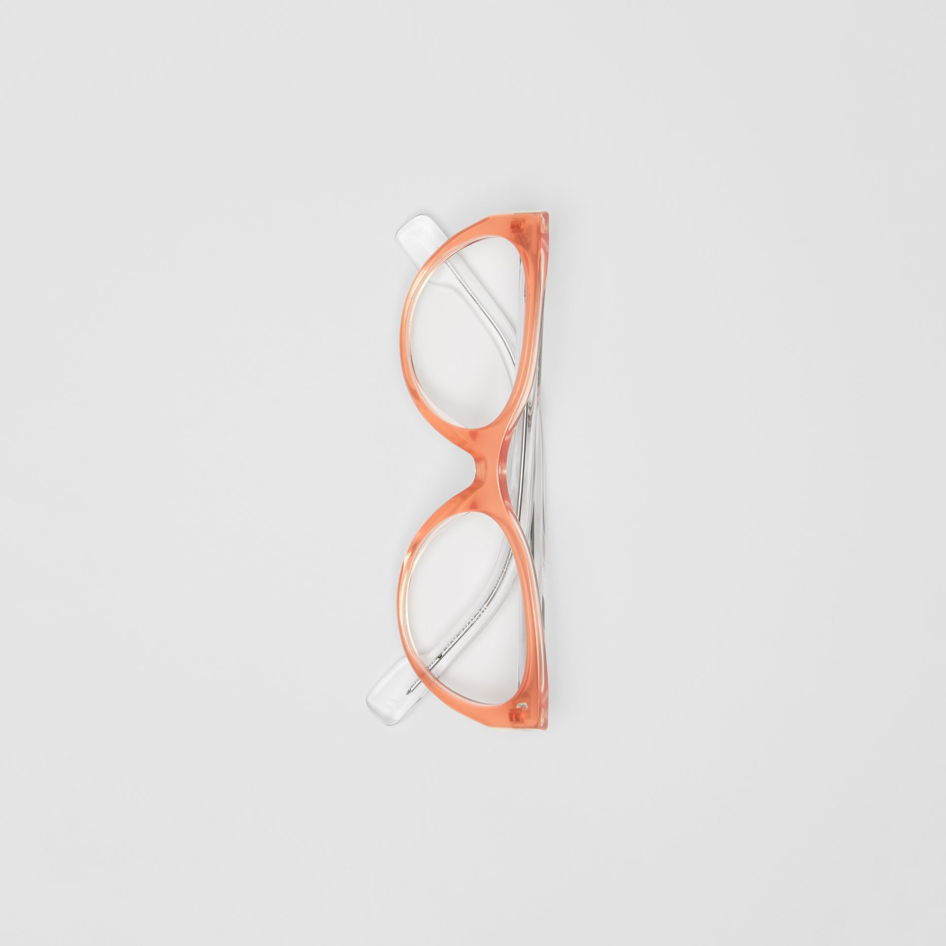 Cat-eye Optical Frames in Peach - Women | Burberry United Kingdom - gallery image 3