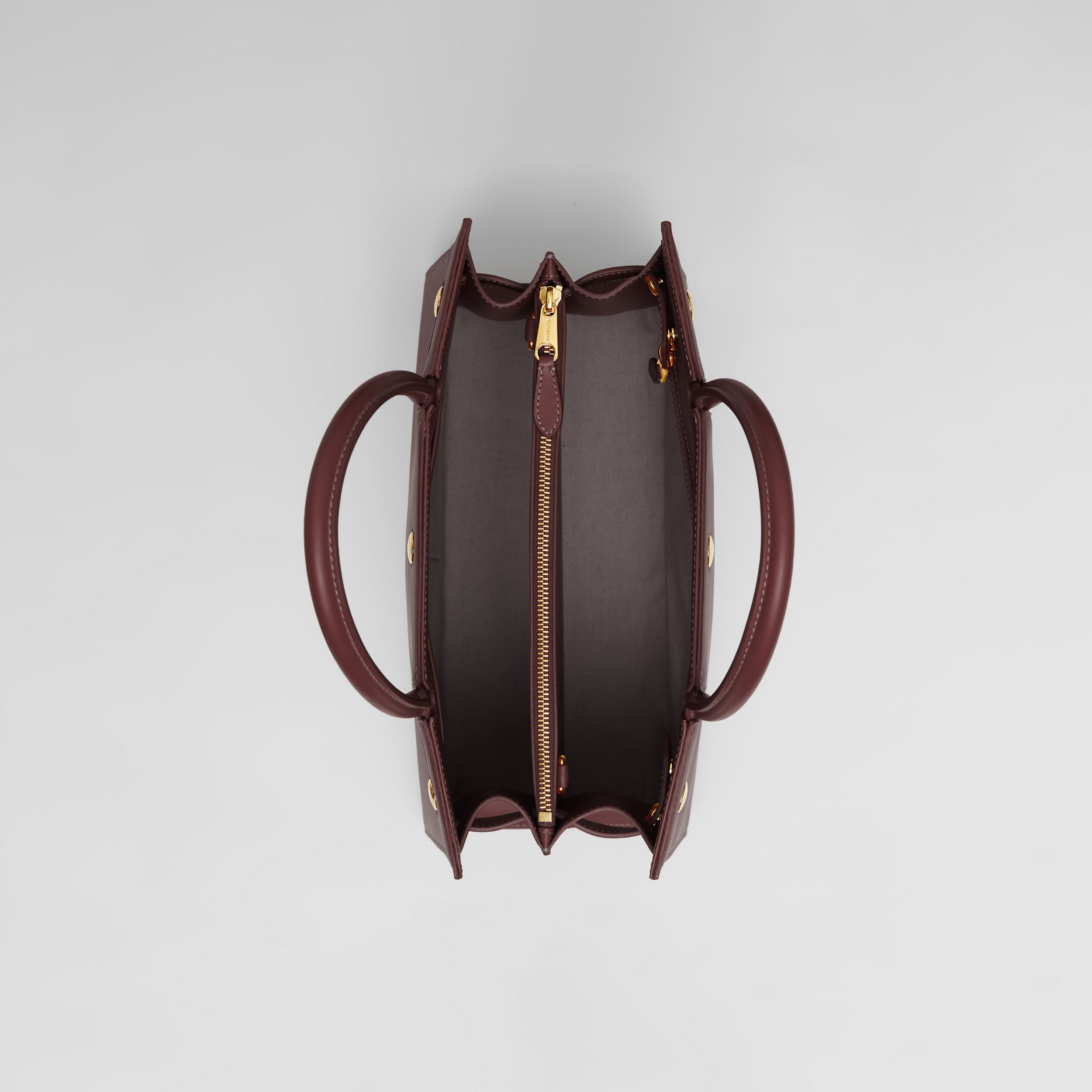Medium Leather Two-handle Title Bag in Garnet - Women | Burberry Australia - 4