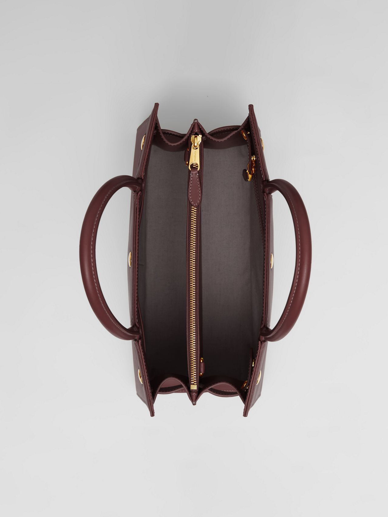 Medium Leather Two-handle Title Bag in Garnet