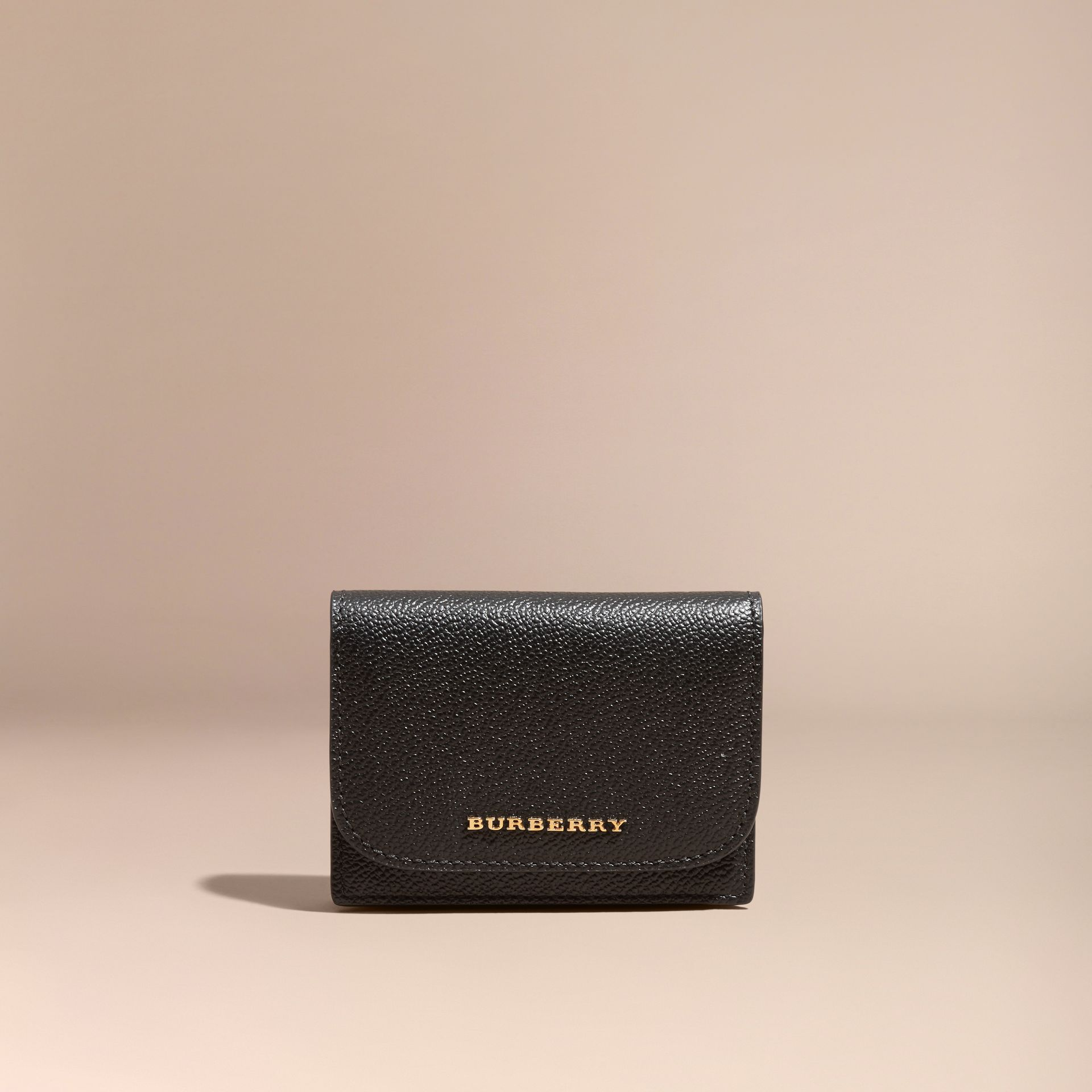 Grainy Leather Card Case Black - gallery image 6