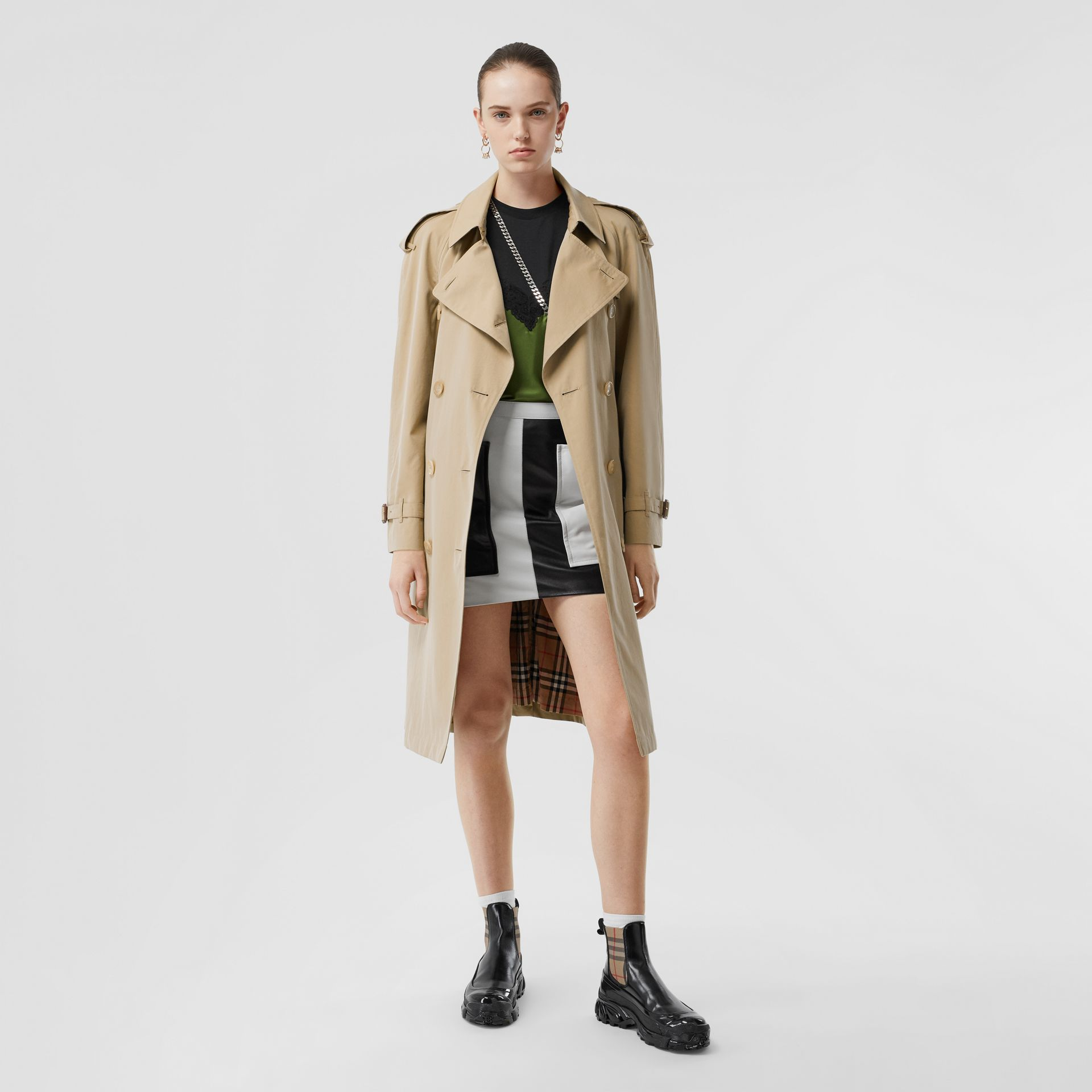 The Mid-length Westminster Heritage Trench Coat in Honey - Women | Burberry Australia - gallery image 0