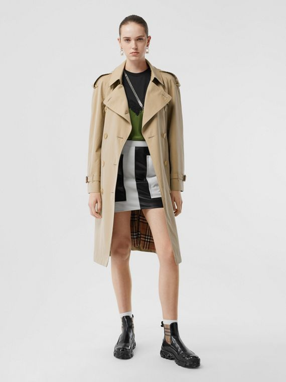 The Mid-length Westminster Heritage Trench Coat in Honey