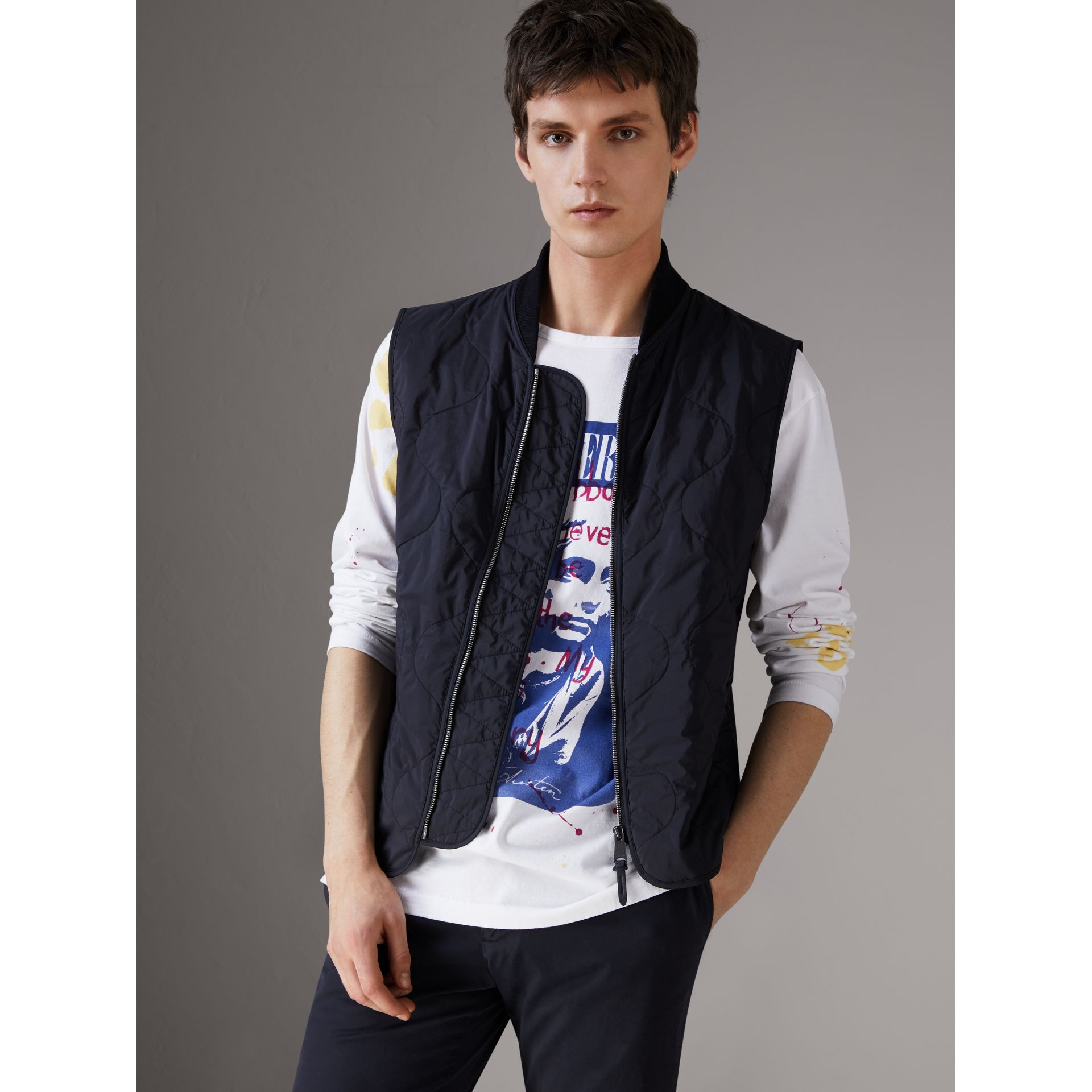 Shape-memory Taffeta Field Jacket with Warmer in Navy - Men | Burberry Singapore - gallery image 1
