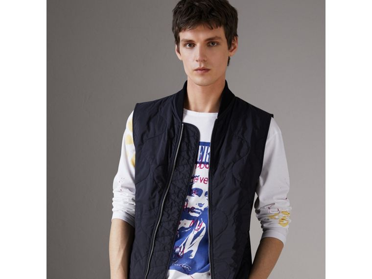 Shape-memory Taffeta Field Jacket with Warmer in Navy - Men | Burberry - cell image 1