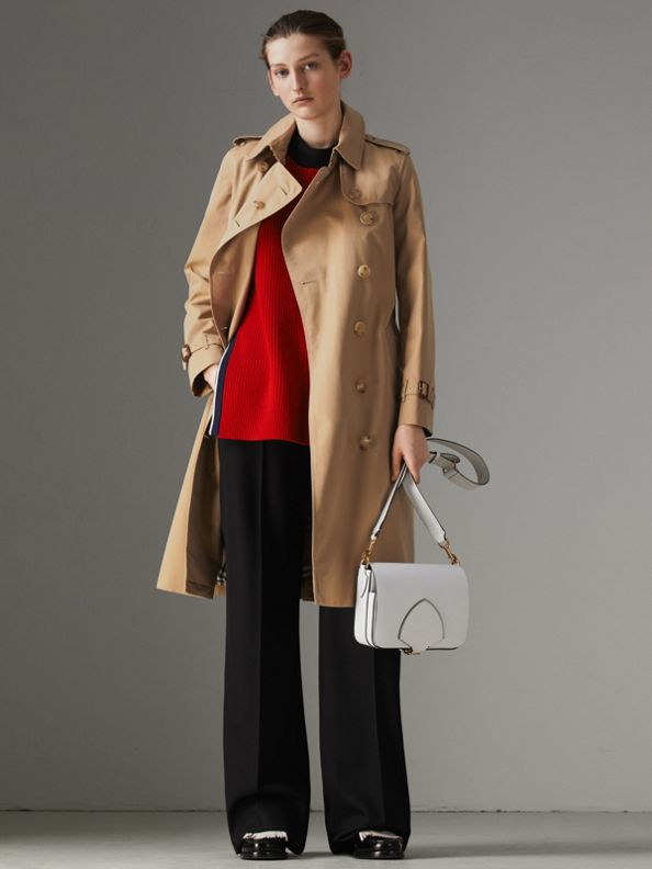 The Long Kensington Heritage Trench Coat in Honey