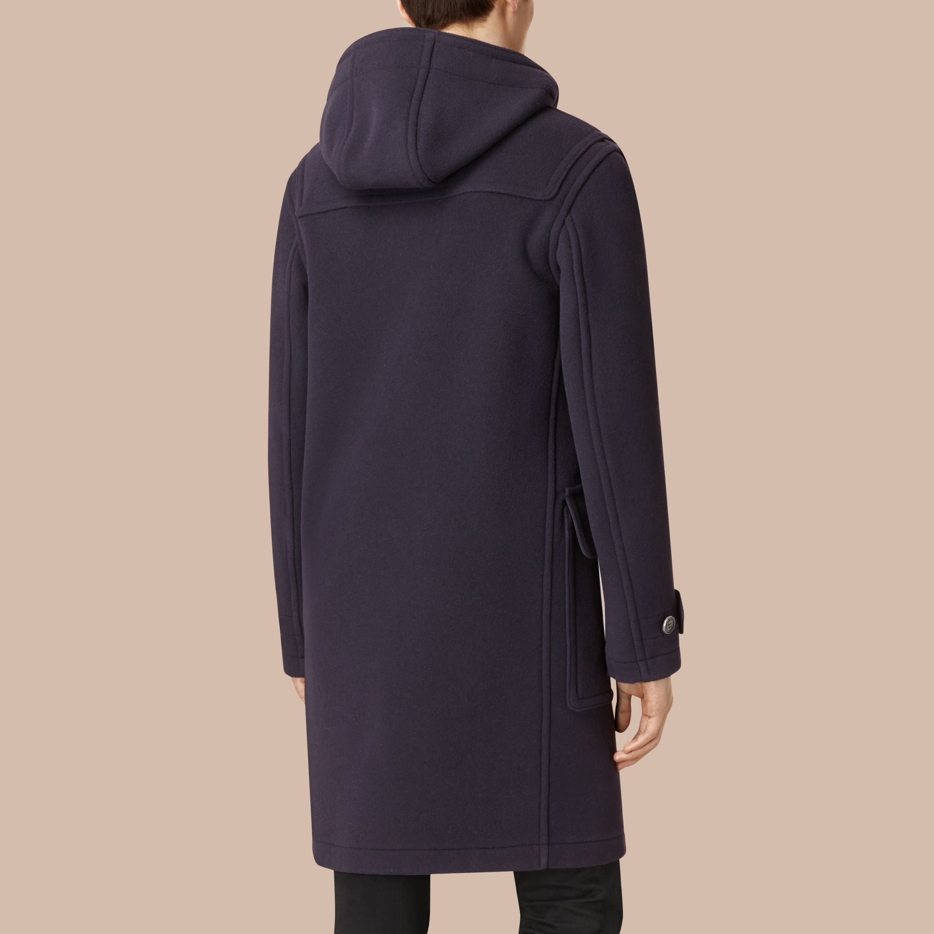 Wool-Blend Duffle Coat Navy - gallery image 3