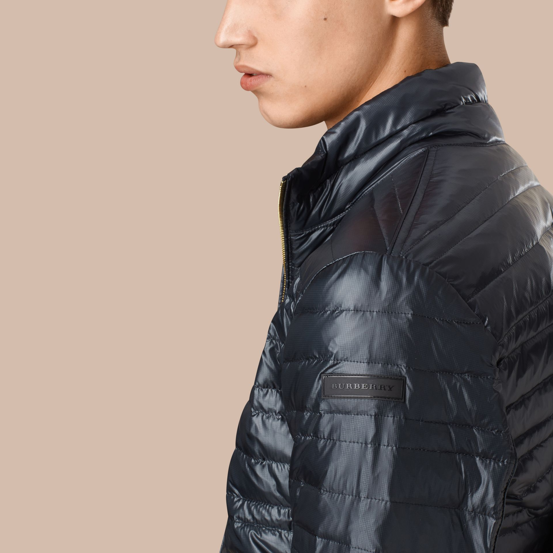 Lightweight Down-filled Jacket Navy - gallery image 2