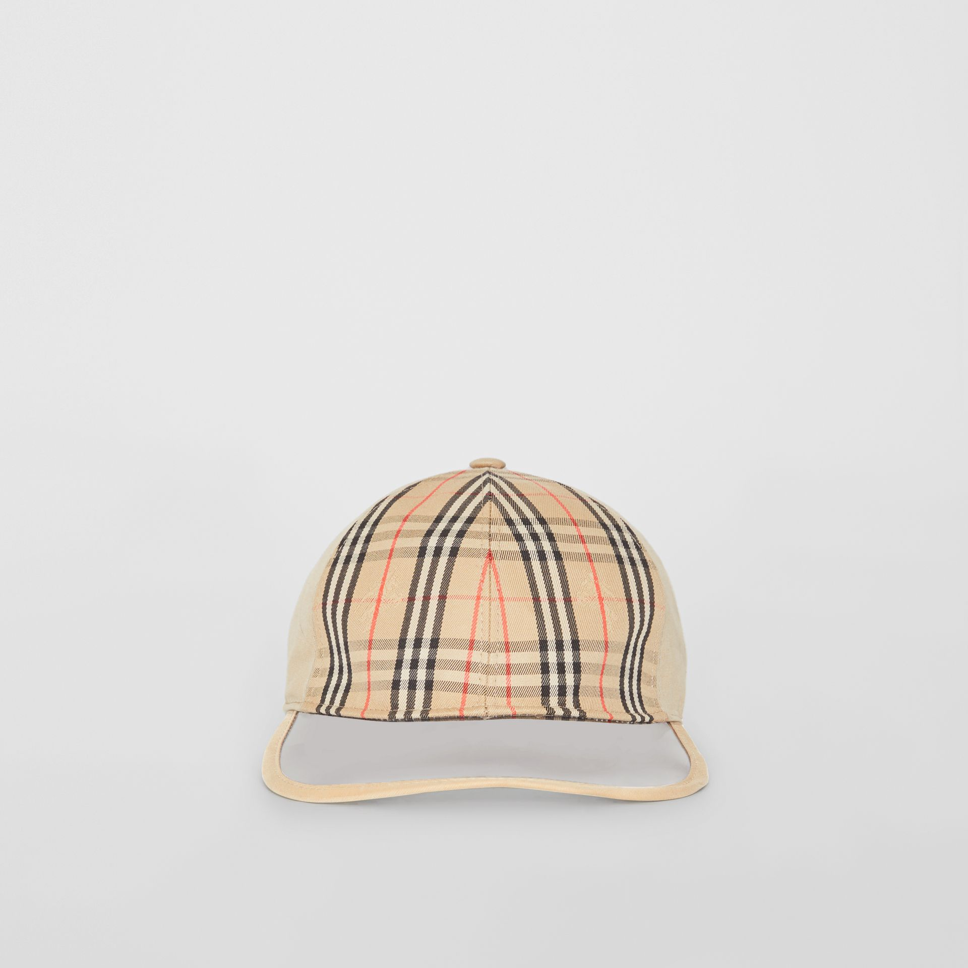1983 Check Baseball Cap in Dark Sand | Burberry Australia - gallery image 2