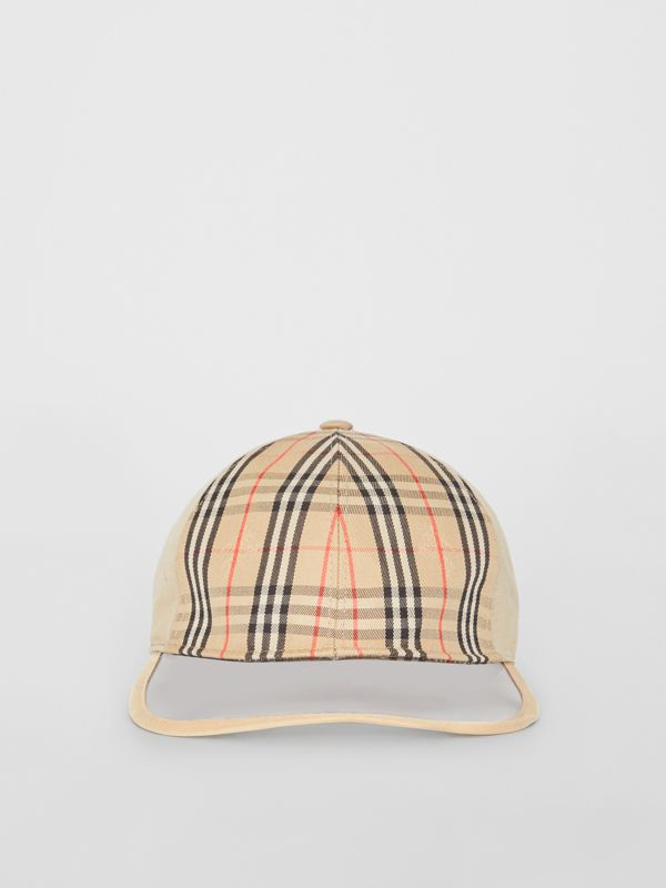 1983 Check Baseball Cap in Dark Sand | Burberry Australia - cell image 2