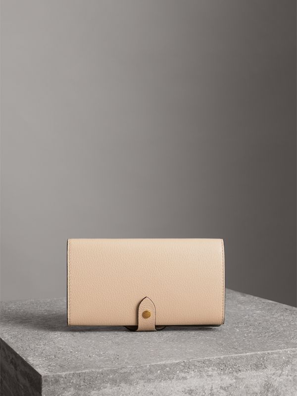 Equestrian Shield Two-tone Leather Continental Wallet in Stone - Women | Burberry Hong Kong - cell image 2