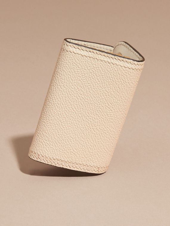 Grainy Leather Key Holder in Limestone - Women | Burberry - cell image 3
