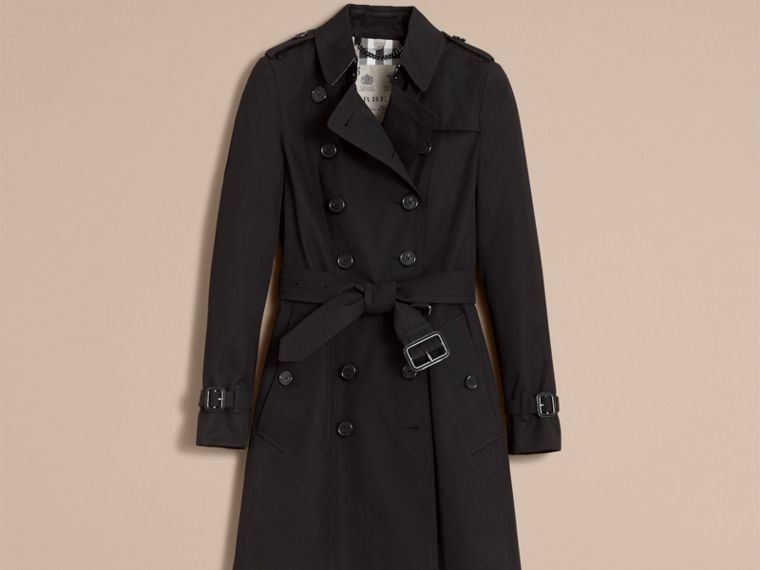 Black The Chelsea – Mid-length Heritage Trench Coat Black - cell image 4