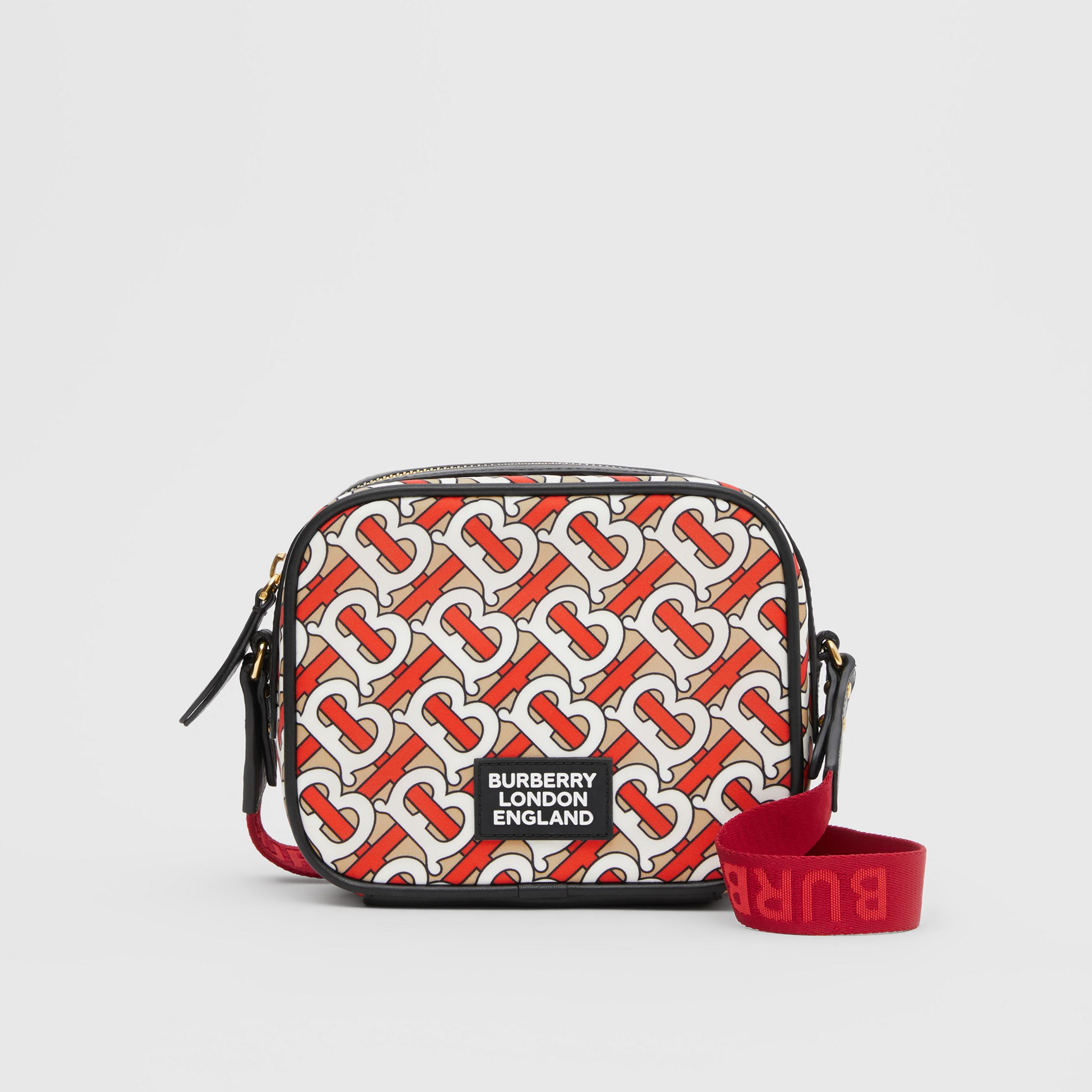 Monogram Print ECONYL® Camera Bag in Vermilion - Children | Burberry United States - 1