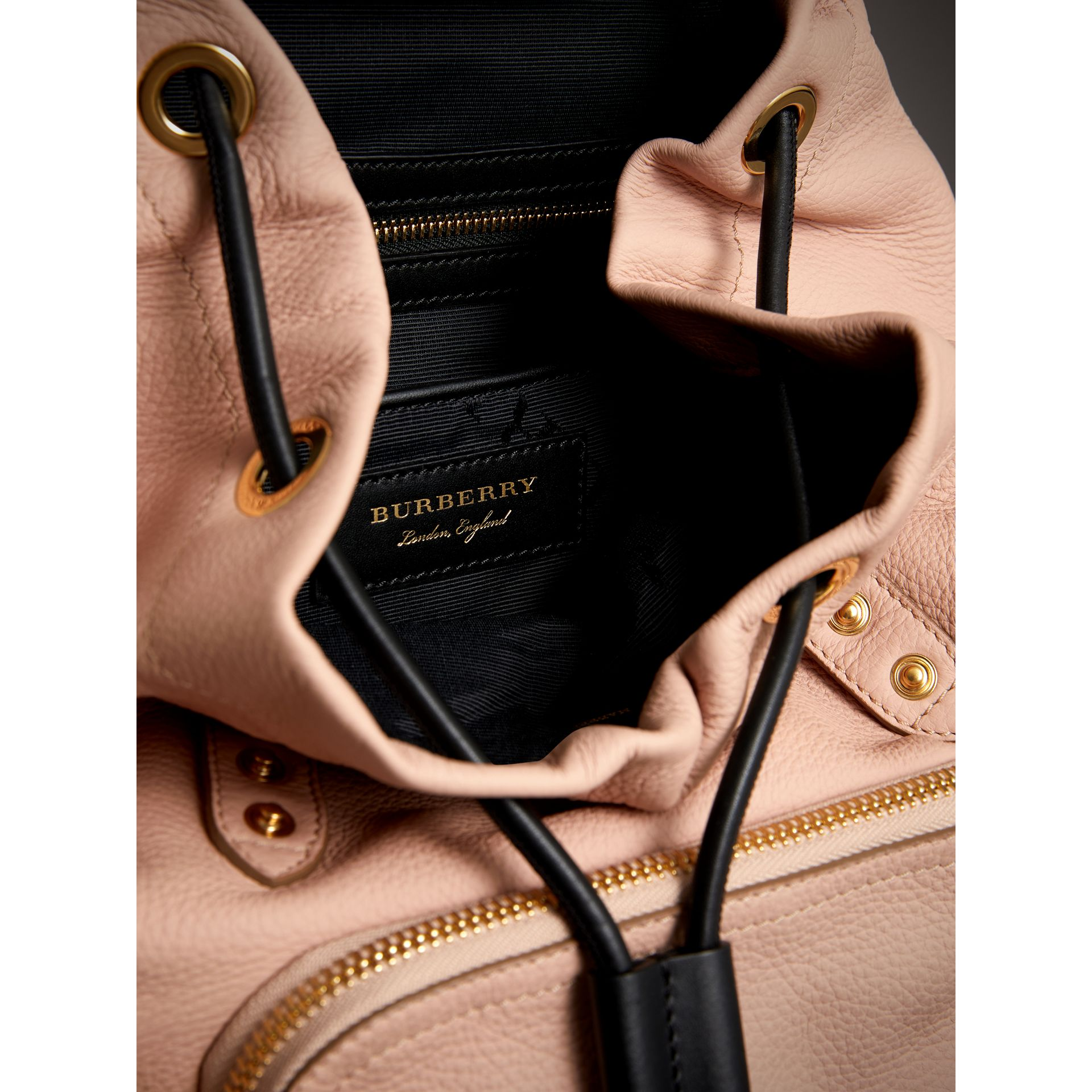 The Medium Rucksack in Deerskin with Resin Chain in Pale Apricot - Women | Burberry - gallery image 4