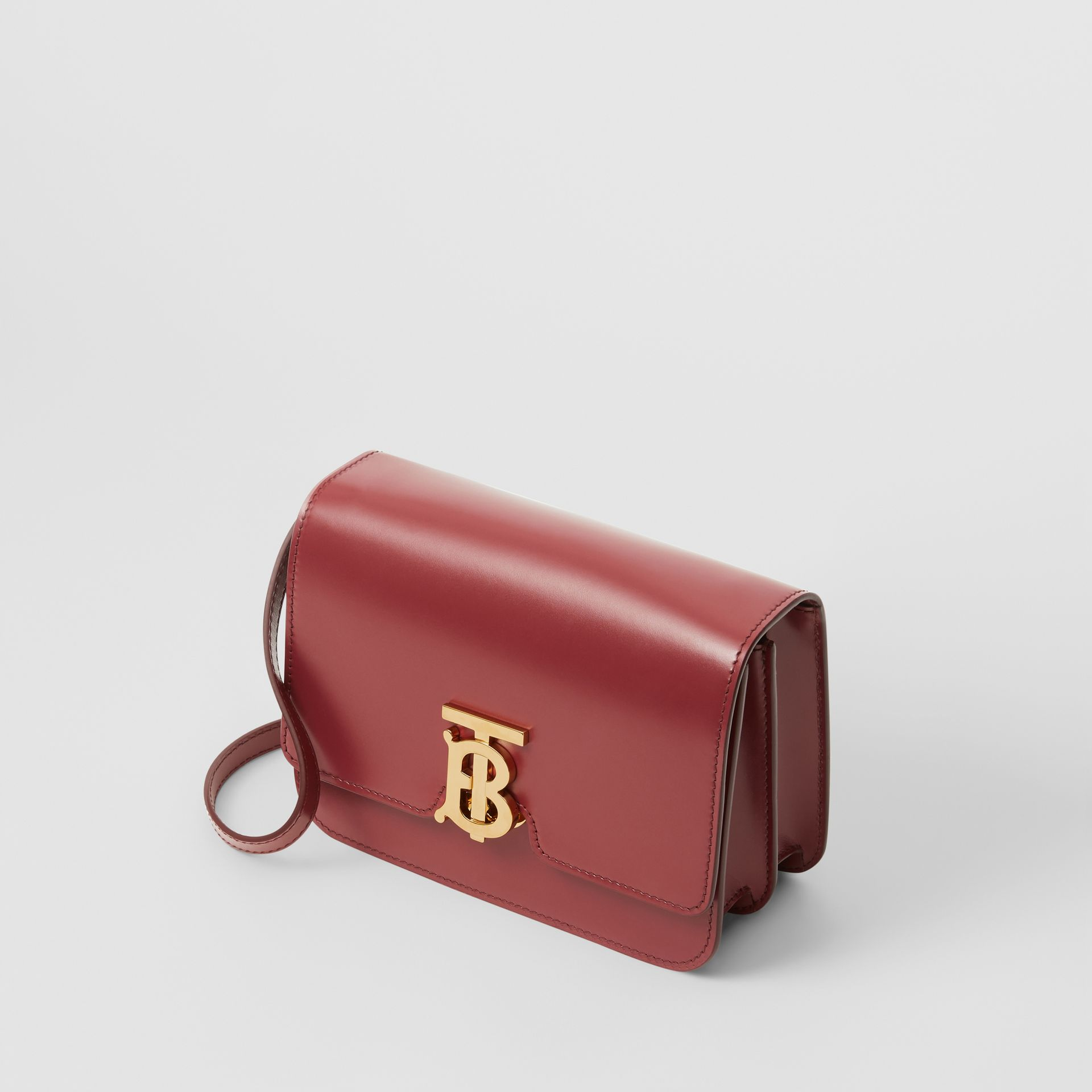 Small Leather TB Bag in Crimson - Women | Burberry - gallery image 3