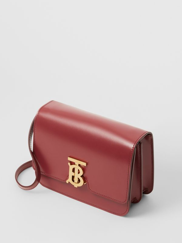 Small Leather TB Bag in Crimson - Women | Burberry - cell image 3