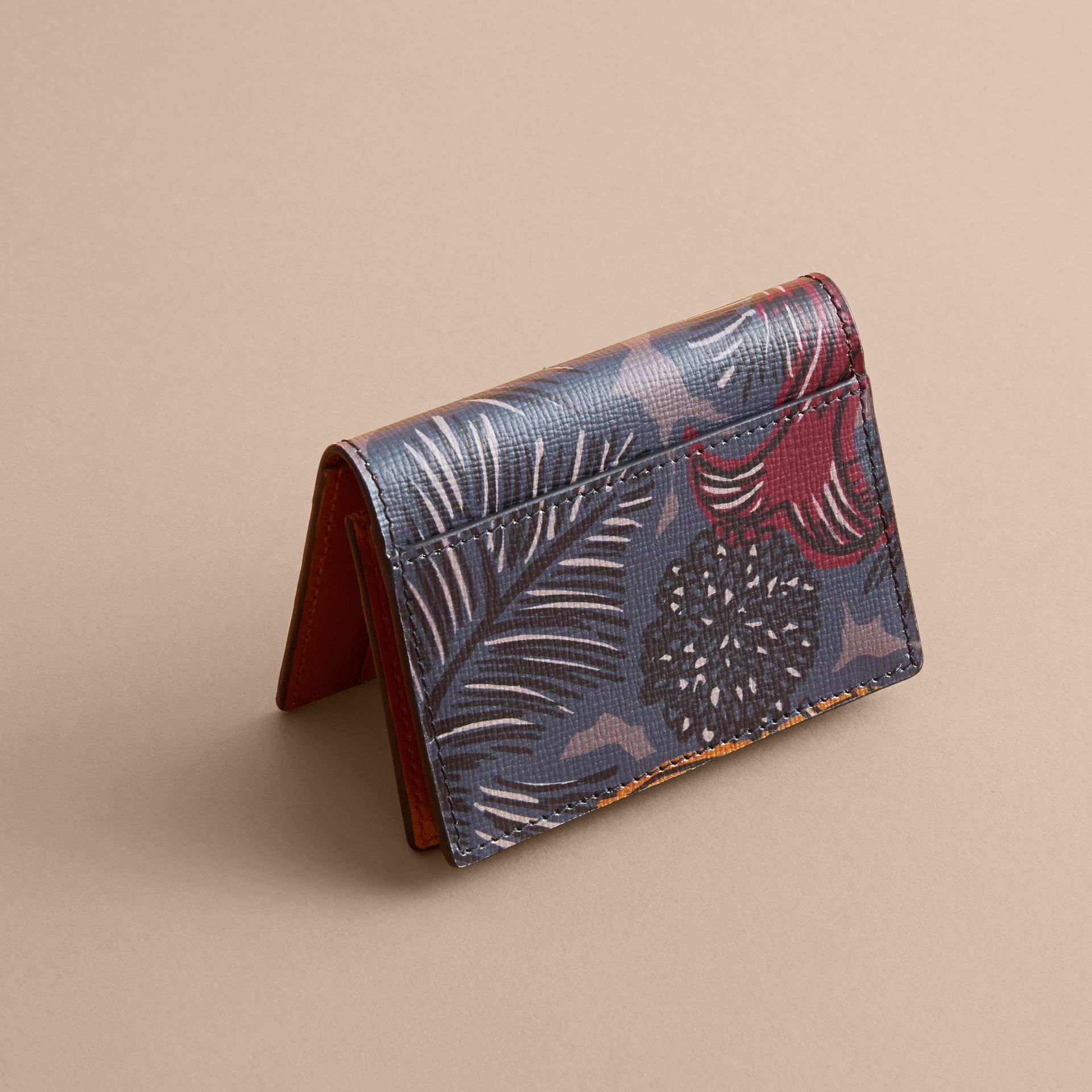 Beasts Print Leather Folding Card Case - Men | Burberry - gallery image 3