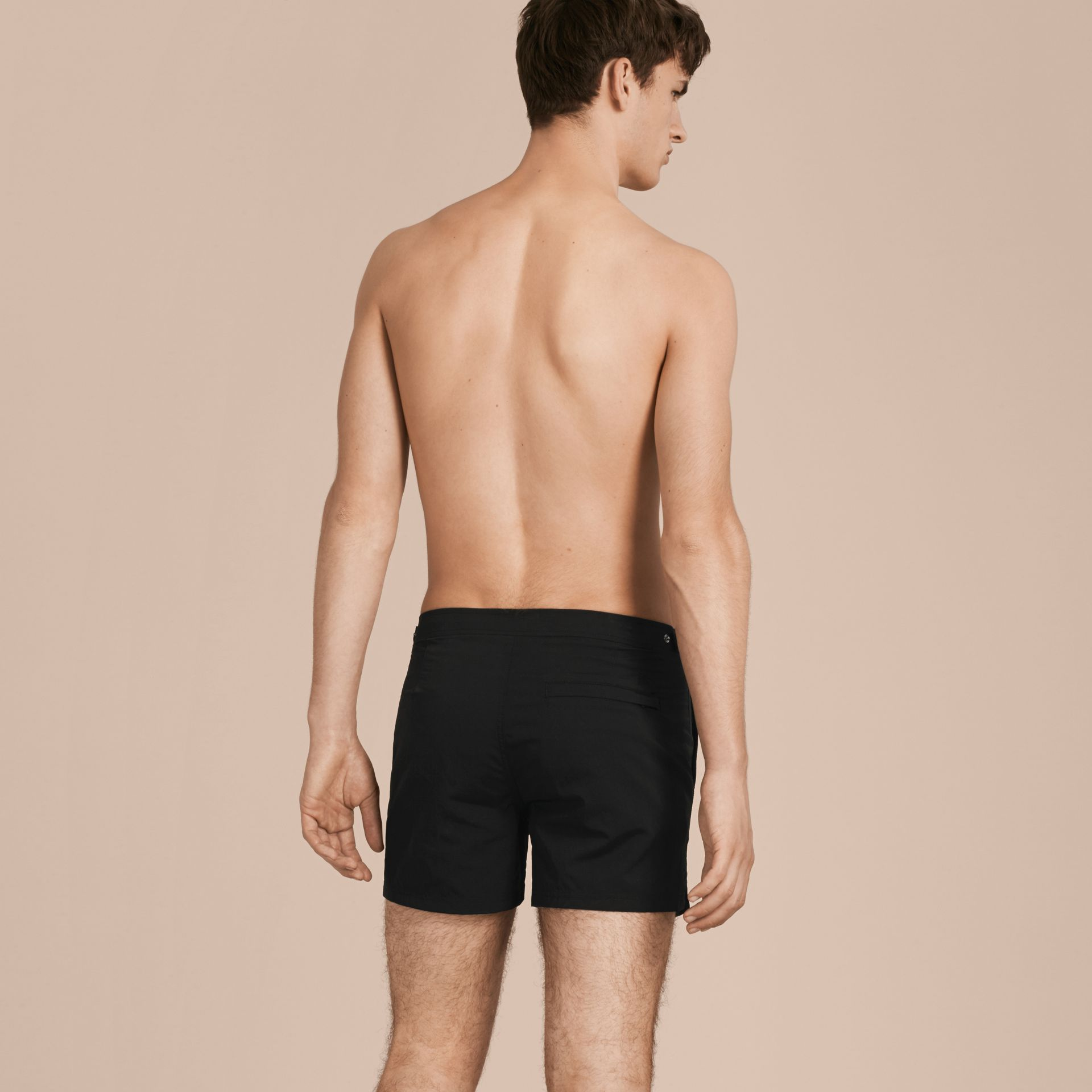 Black Tailored Swim Shorts Black - gallery image 3