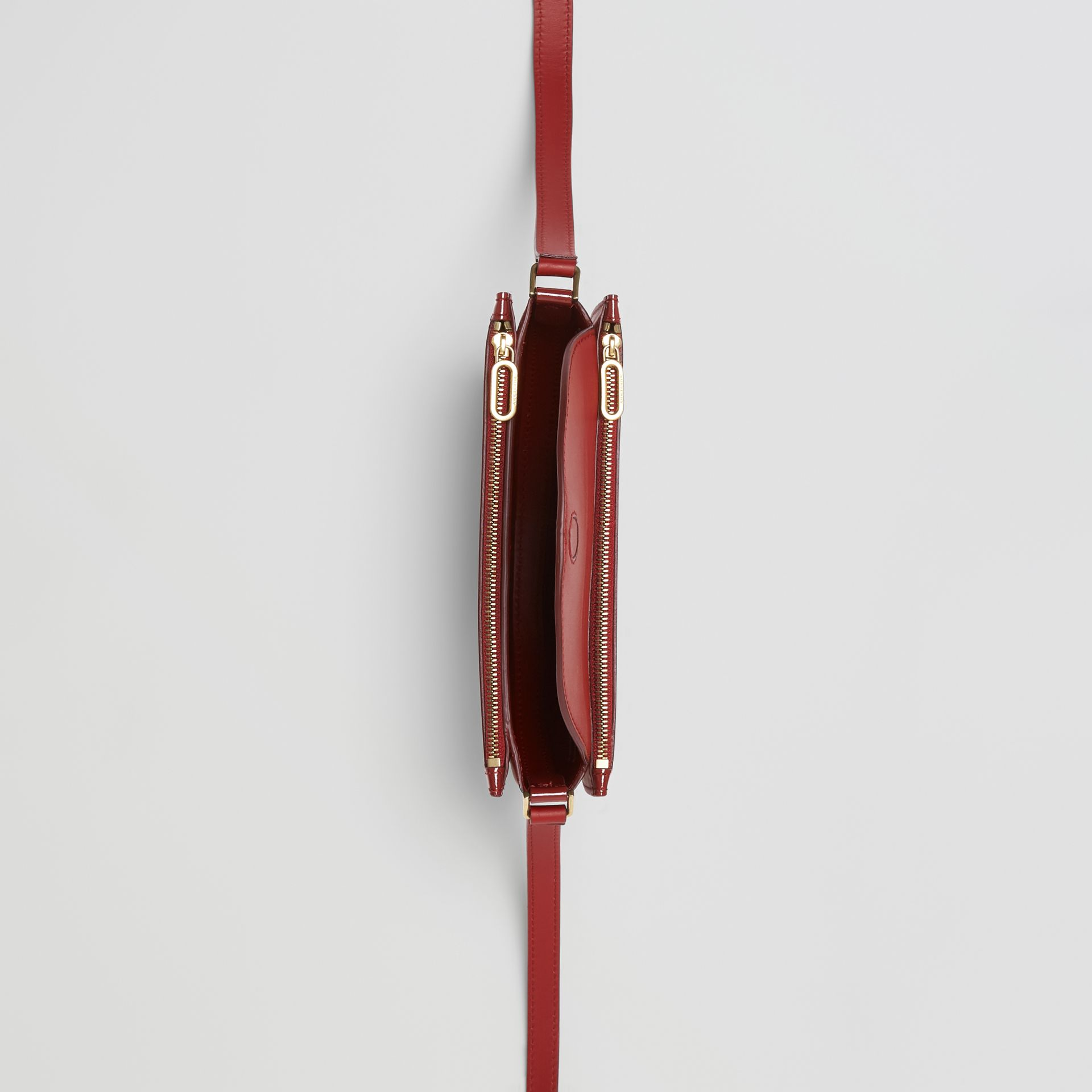 The Small Patent Leather D Bag in Crimson - Women | Burberry United Kingdom - gallery image 5