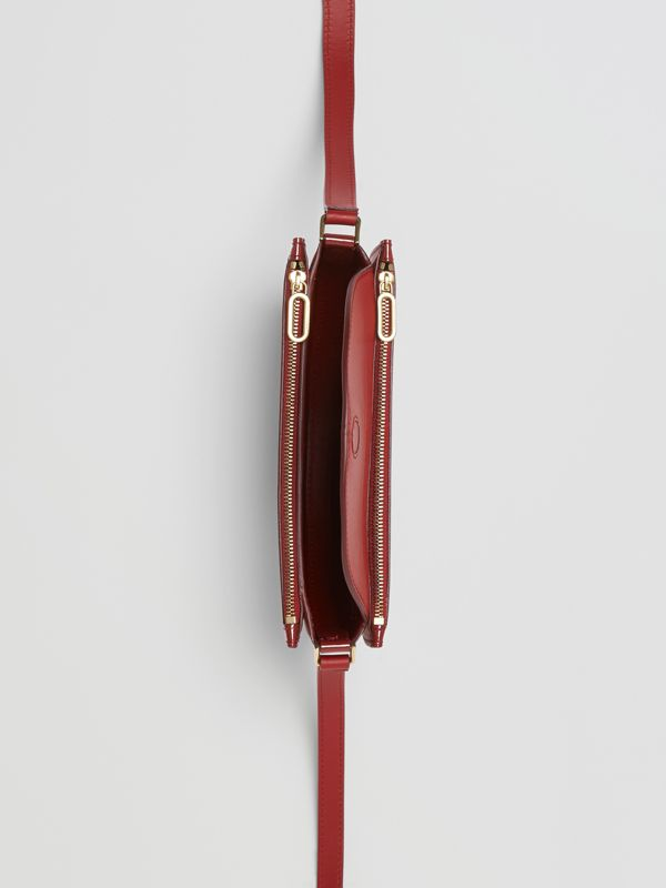 The Small Patent Leather D Bag in Crimson - Women | Burberry - cell image 3