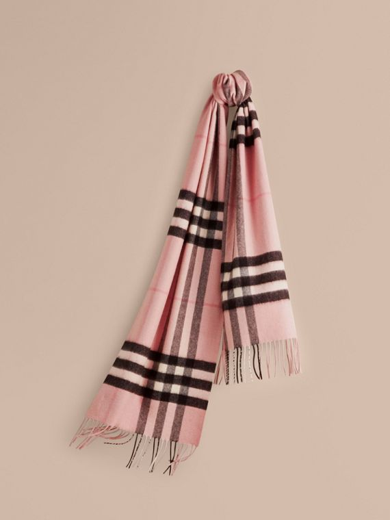 The Classic Check Cashmere Scarf in Ash Rose | Burberry Singapore