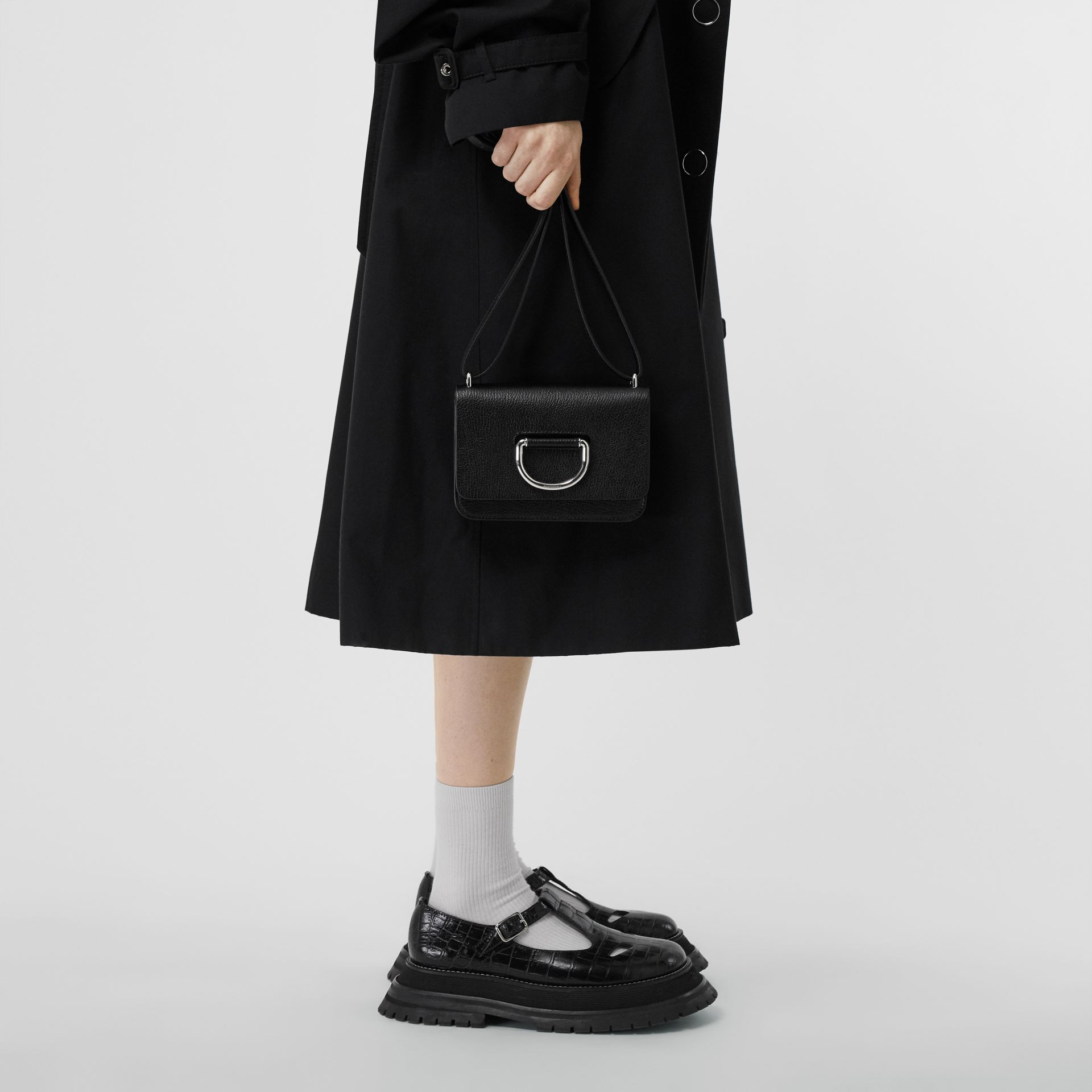 The Mini Leather D-ring Bag in Black - Women | Burberry United States - gallery image 2