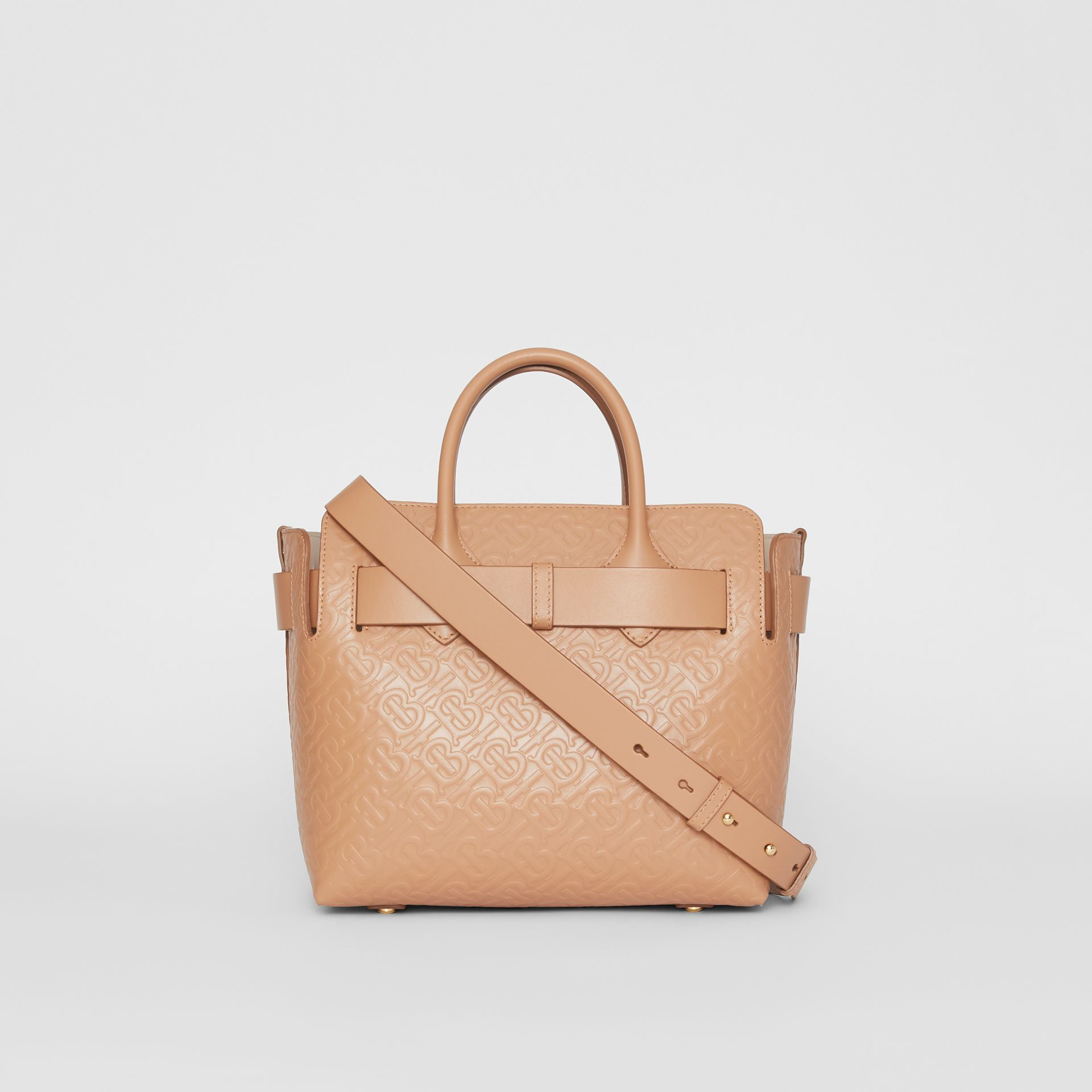 The Small Monogram Leather Triple Stud Belt Bag in Light Camel - Women | Burberry United States - gallery image 7