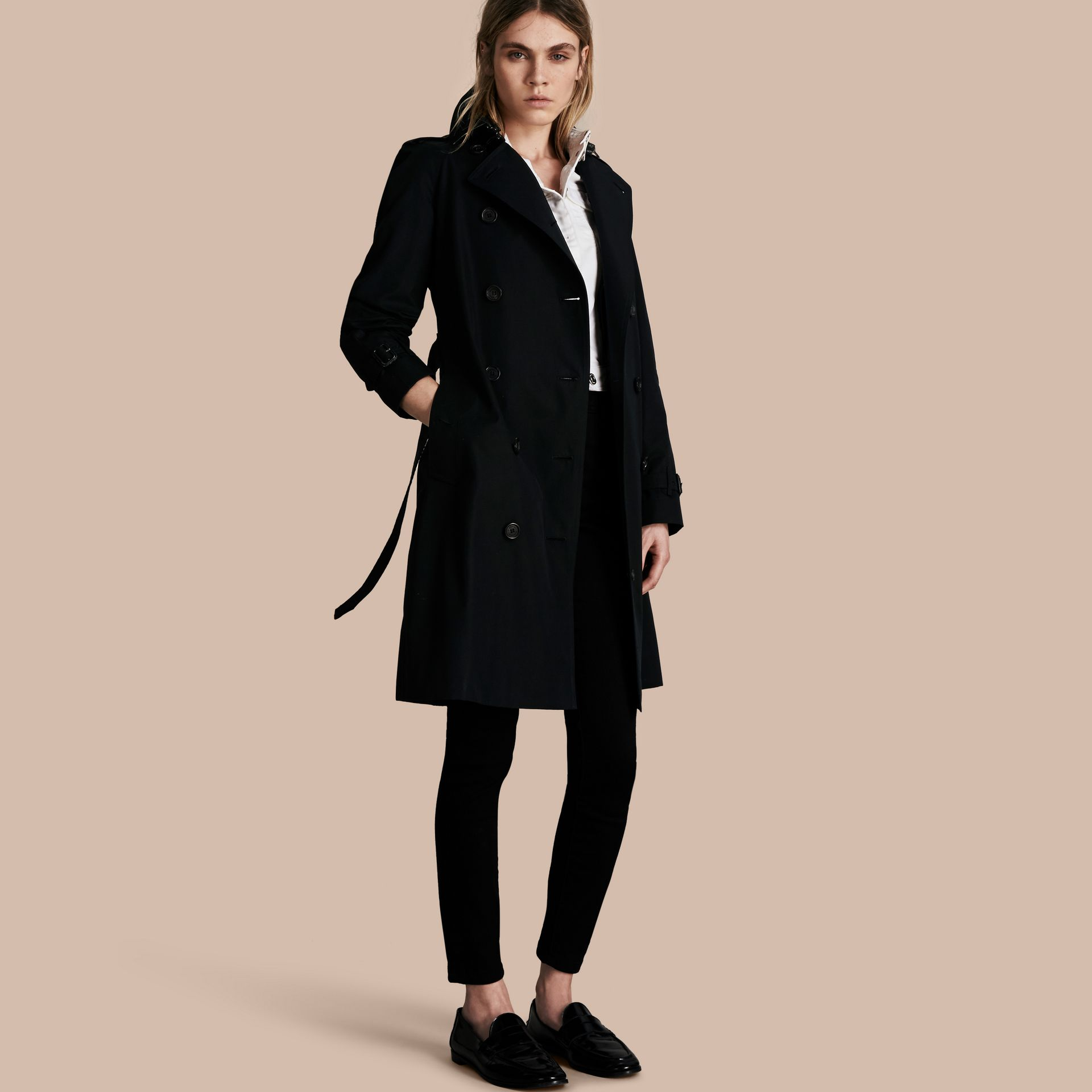 Black The Westminster - Long Heritage Trench Coat - gallery image 1