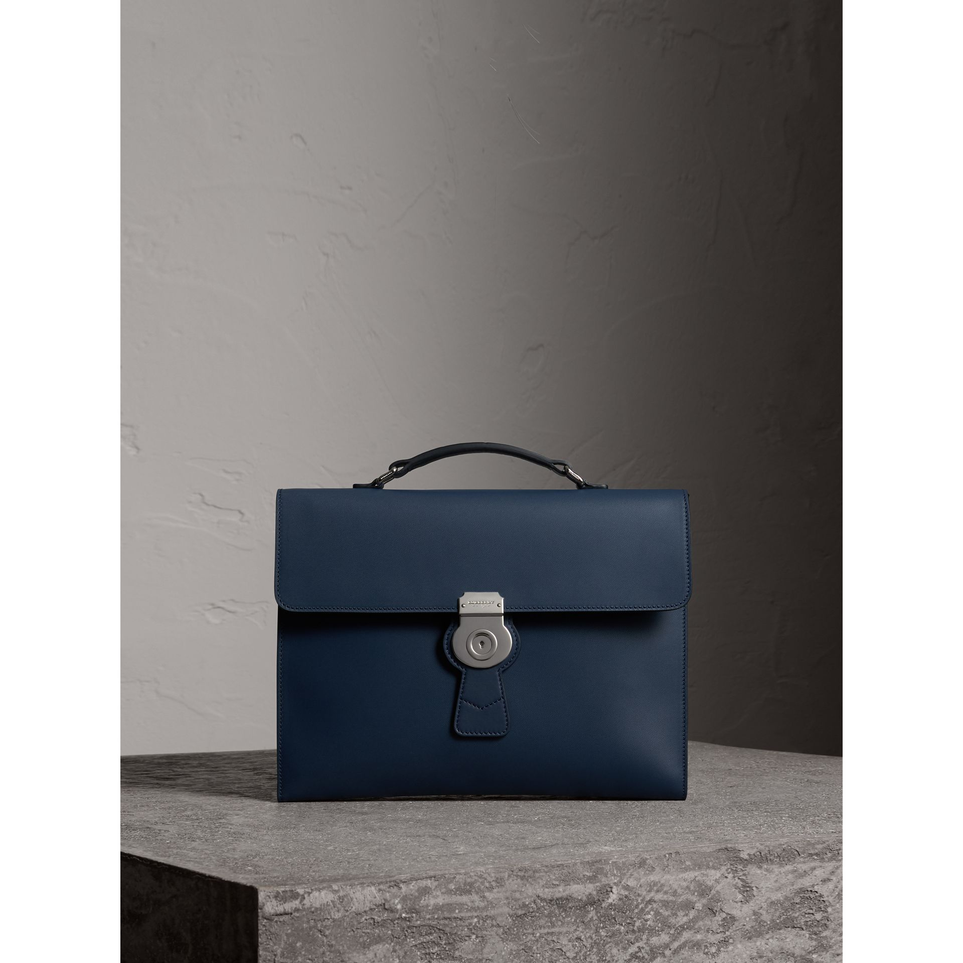 The Large DK88 Document Case in Ink Blue - Men | Burberry - gallery image 1