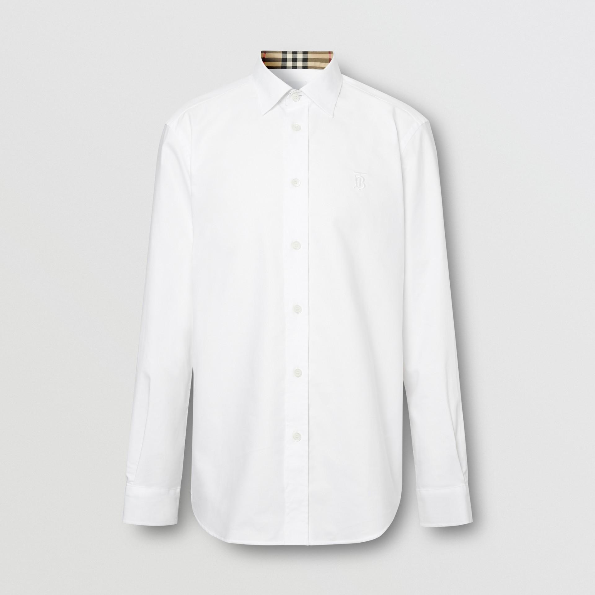 Monogram Motif Cotton Oxford Shirt in White - Men | Burberry Hong Kong S.A.R - gallery image 3