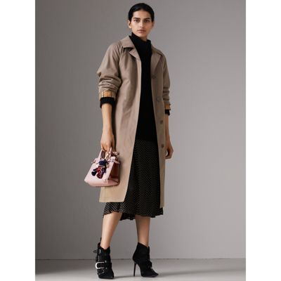 Burberry - The Baby Banner en cuir et coton House check - 3
