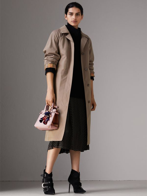 The Baby Banner in Leather and House Check in Pale Orchid - Women | Burberry - cell image 2