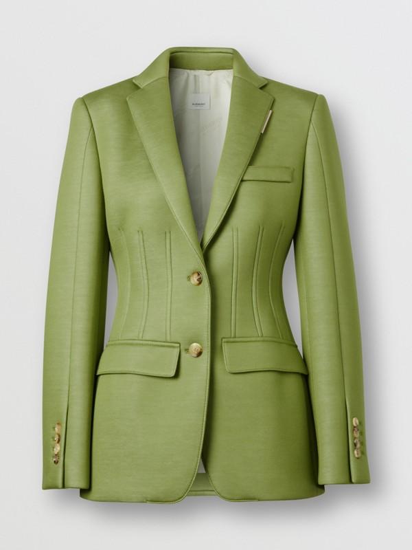 雙面氯丁橡膠套量裁製外套 (雪松綠) - 女款 | Burberry - cell image 3