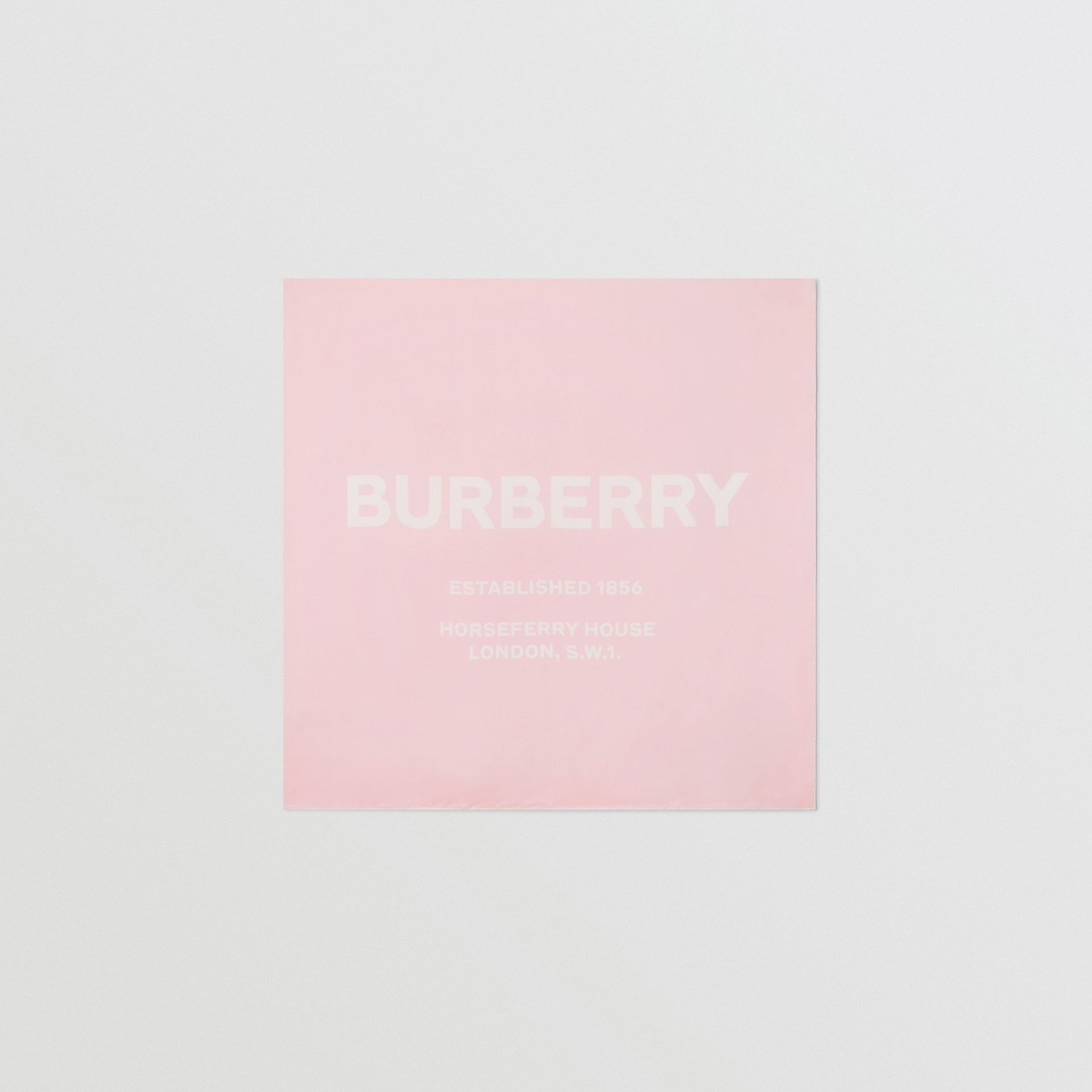 Horseferry Print Silk Square Scarf in Pink | Burberry Singapore - gallery image 0