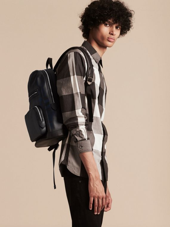 Navy/black London Check Backpack Navy/black - cell image 2