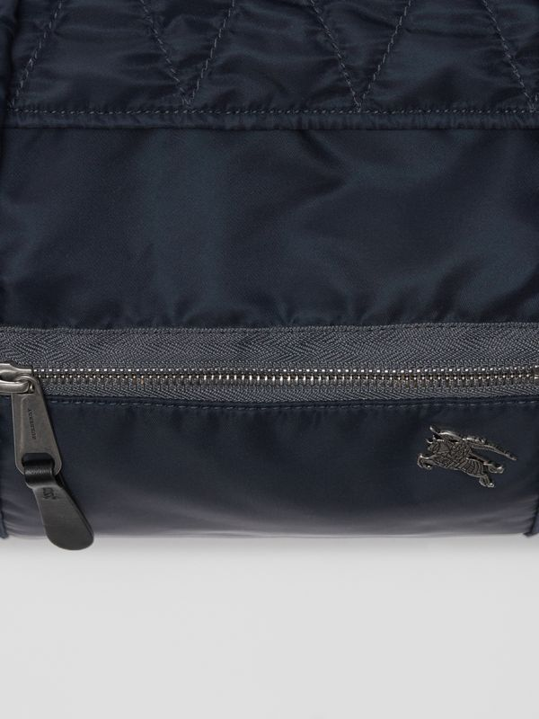 Large EKD Aviator Nylon and Leather Barrel Bag in Ink Blue - Men | Burberry - cell image 2