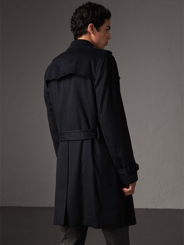 Cashmere Trench Coat in Navy - Men | Burberry - cell image 2