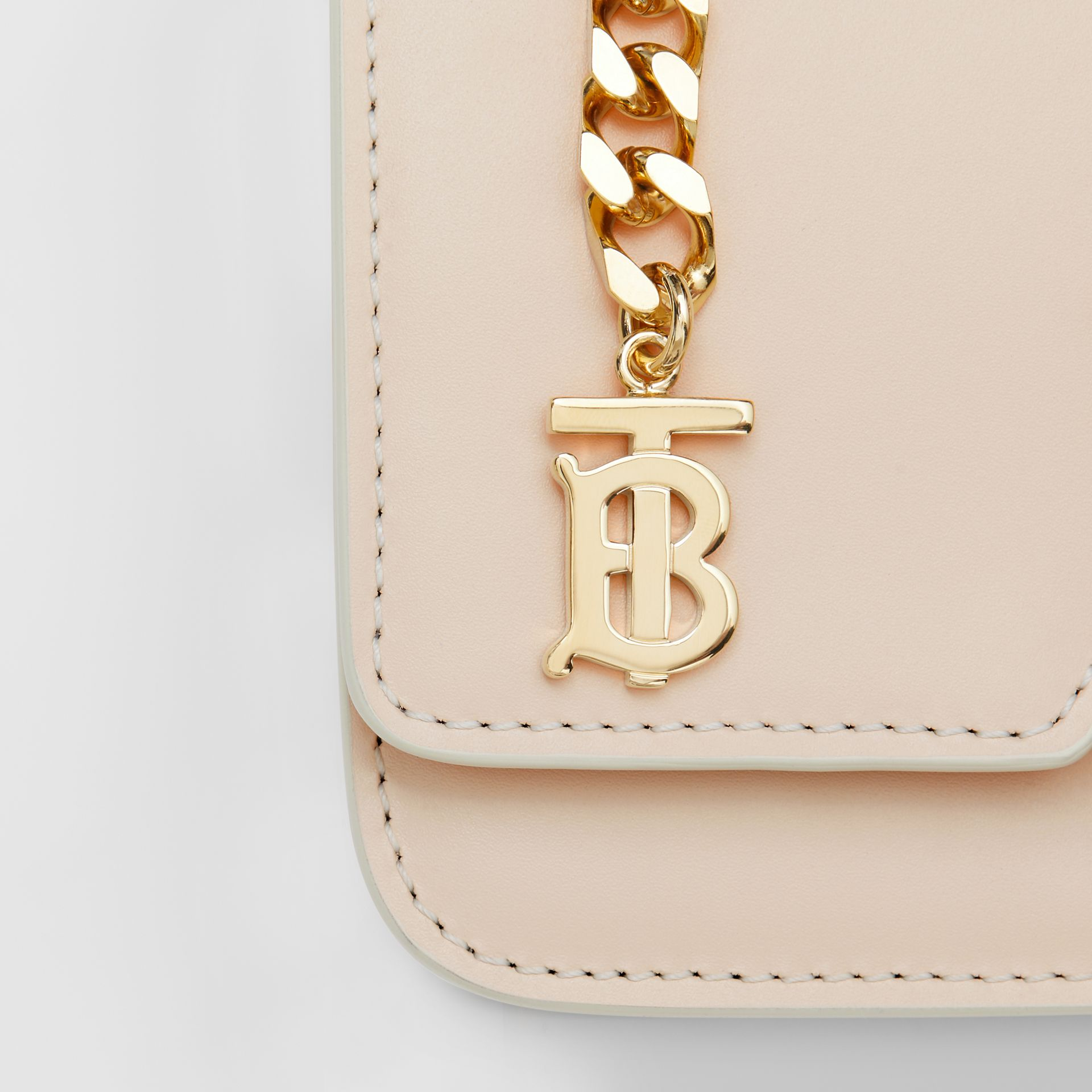 Belted Leather TB Bag in Vanilla - Women | Burberry Australia - gallery image 1