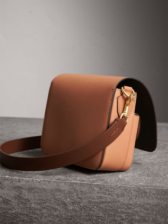 The Square Satchel in Leather in Camel - Women | Burberry Australia - cell image 3