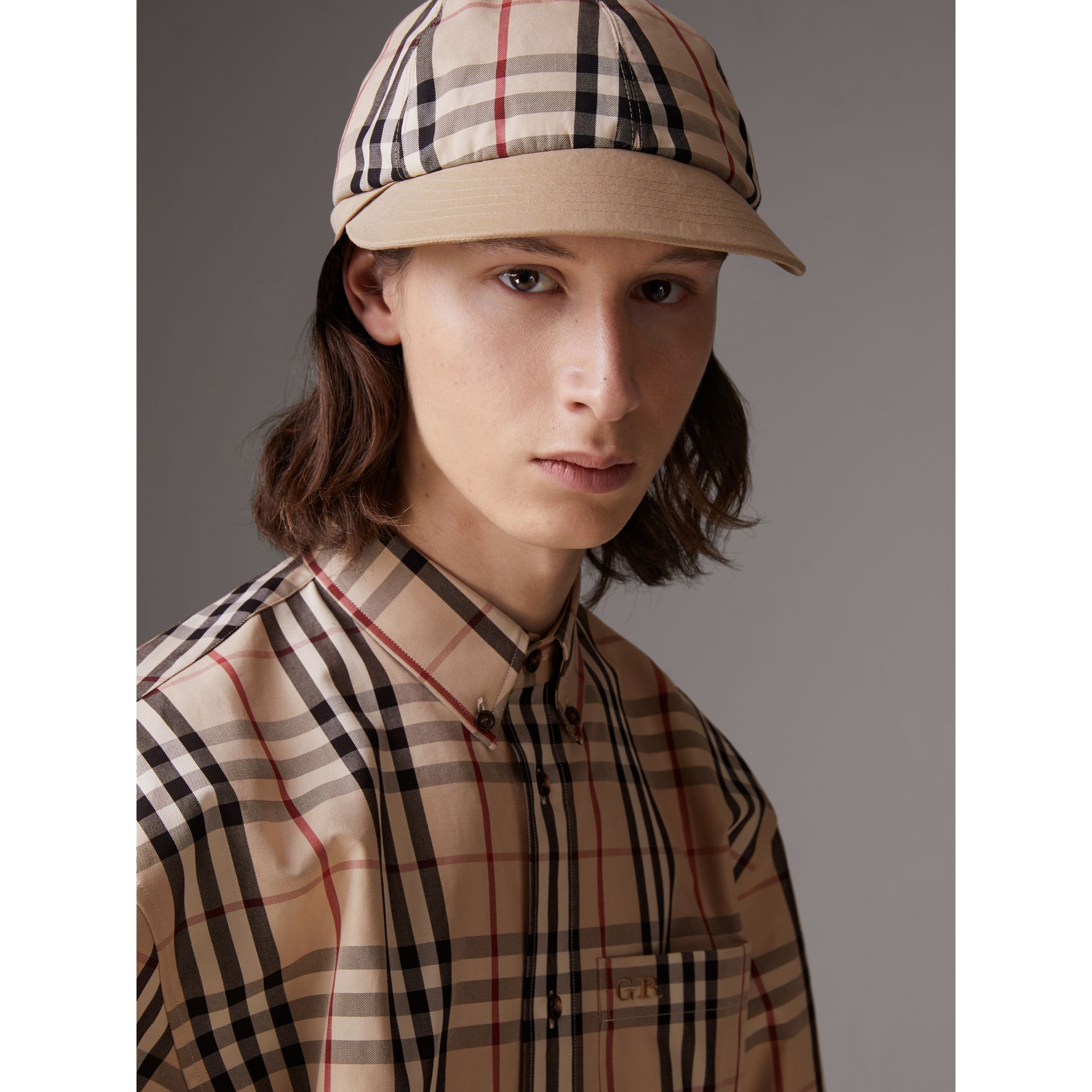Gosha x Burberry Baseball Cap in Honey | Burberry Singapore - gallery image 6