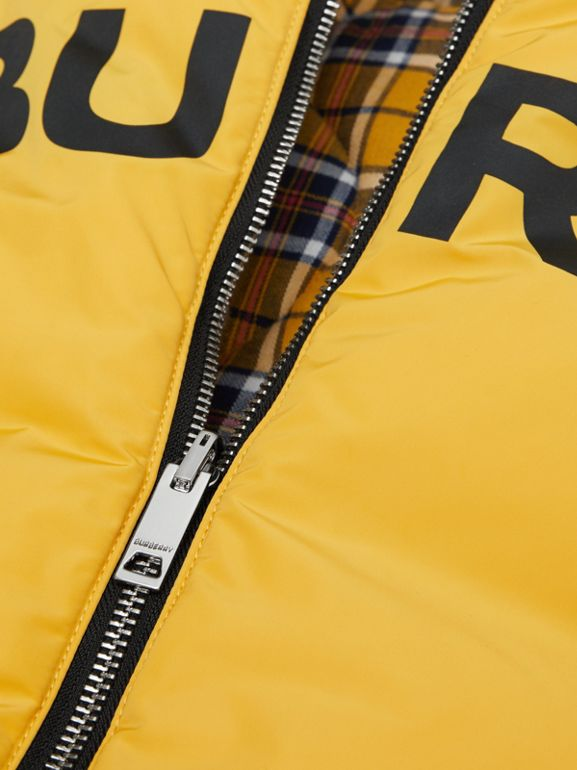 Reversible Horseferry Print Shape-memory Taffeta Gilet in Souwester Yellow | Burberry - cell image 1