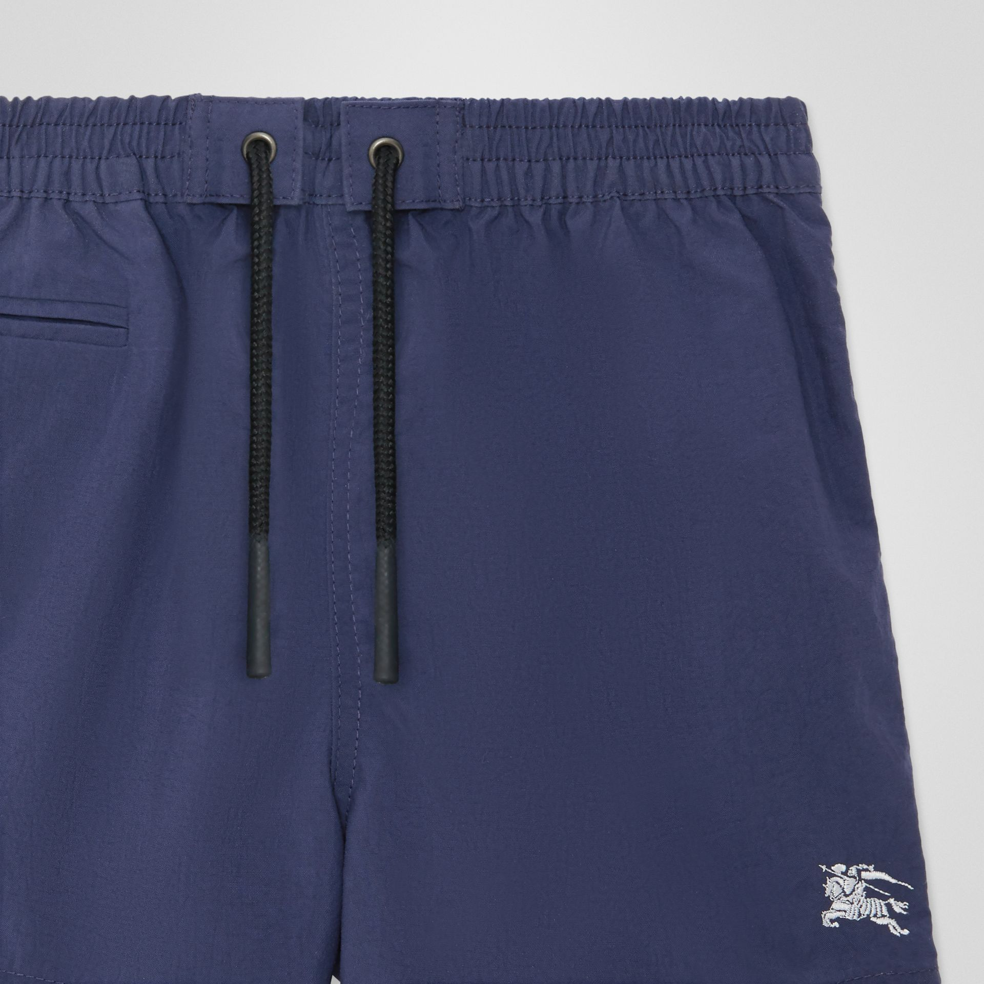 Drawcord Swim Shorts in Indigo - Children | Burberry Singapore - gallery image 4