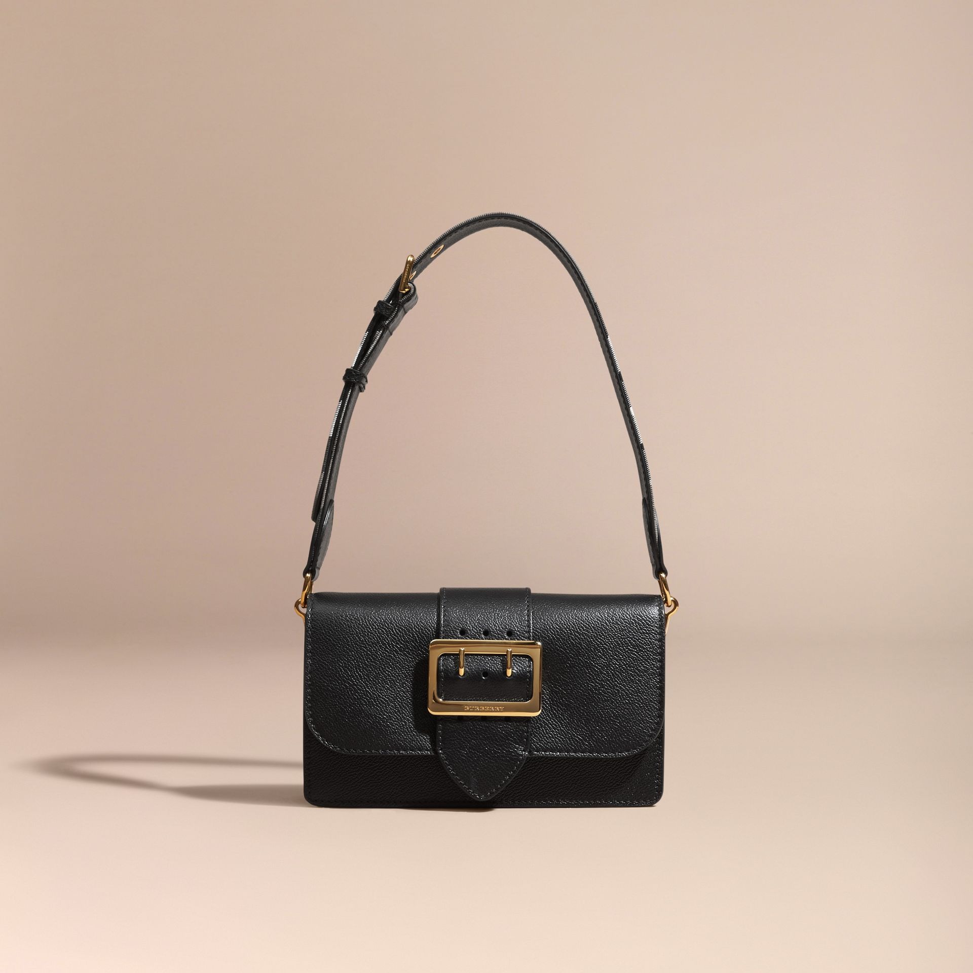 Black The Small Buckle Bag in Leather - gallery image 9