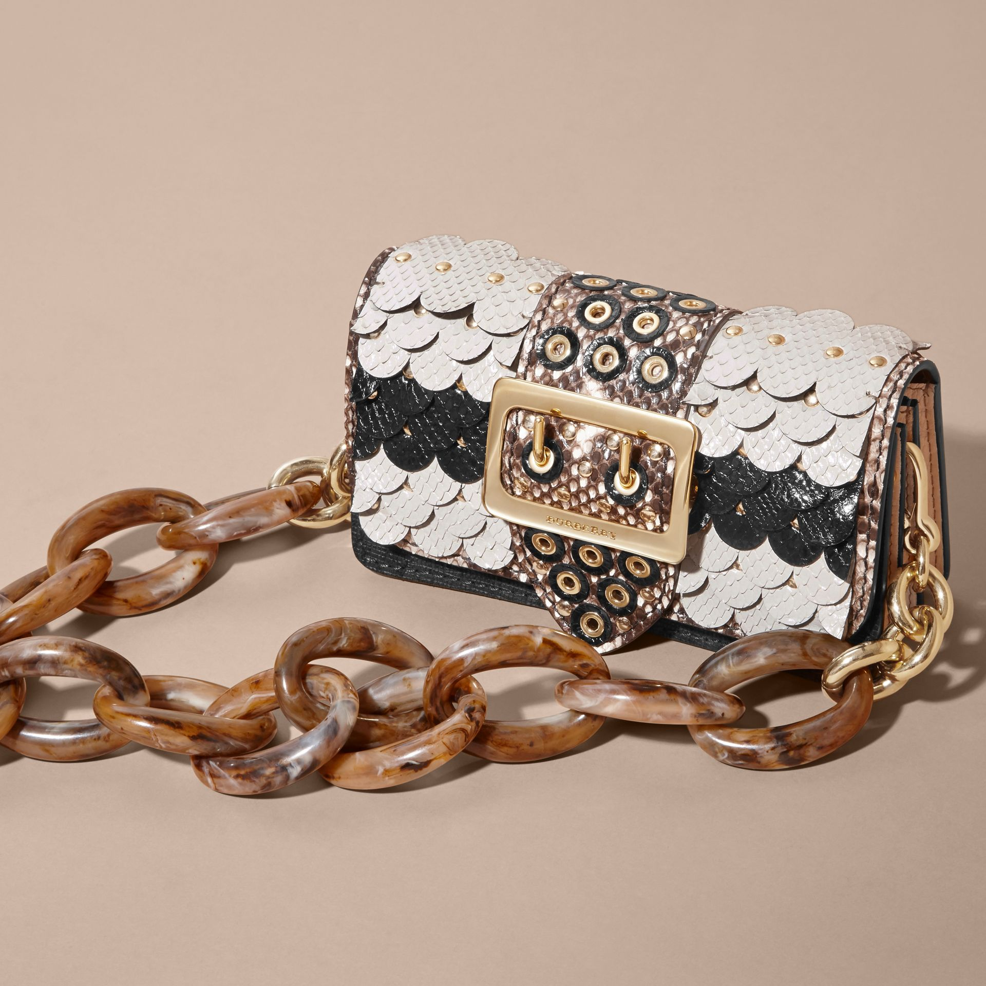 The Small Buckle Bag in Scalloped Snakeskin - gallery image 8