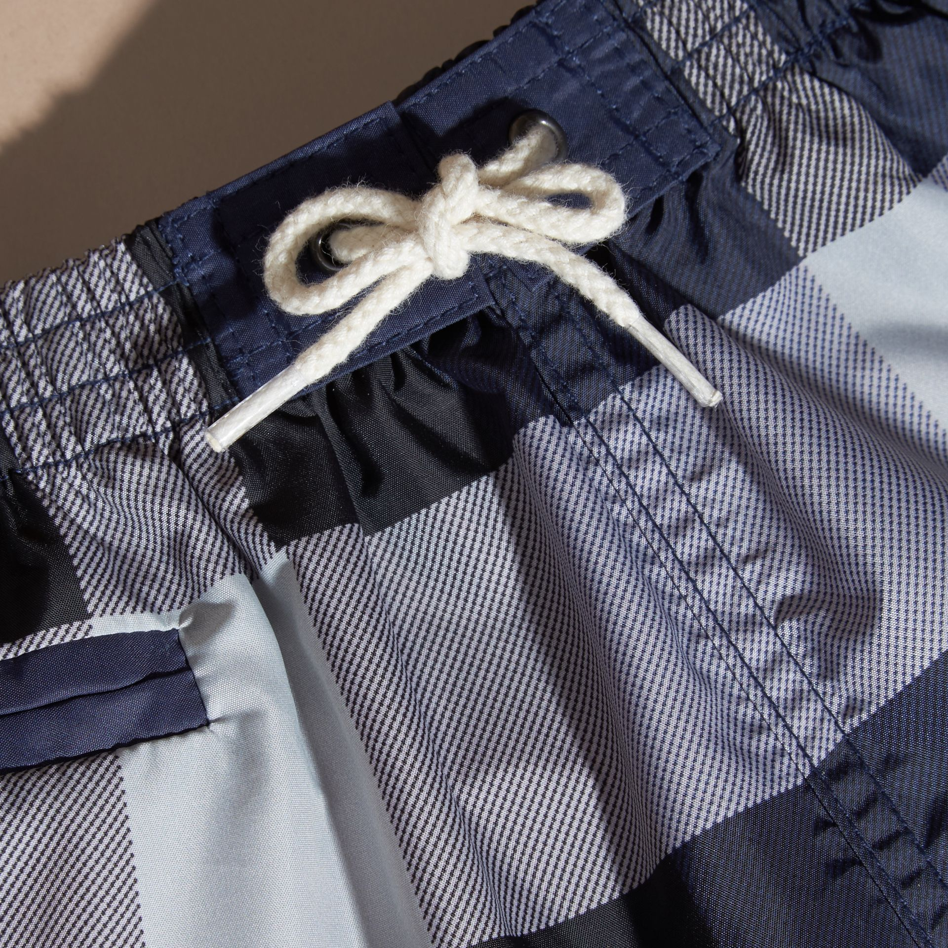 Check Technical Swim Shorts in Ink | Burberry - gallery image 2